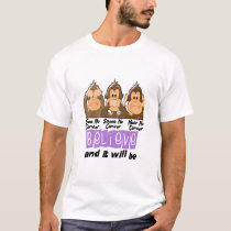 See Speak Hear No Cancer 1 T-Shirt