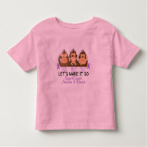 See Speak Hear No Cancer 2 Toddler T-shirt