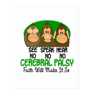 See Speak Hear No Cerebral Palsy 1 Postcard