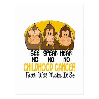 See Speak Hear No Childhood Cancer 1 Postcards