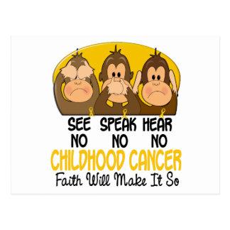 See Speak Hear No Childhood Cancer 1 Postcard