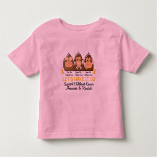 See Speak Hear No Childhood Cancer 2 Tees