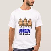 See Speak Hear No Colon Cancer 3 T-Shirt
