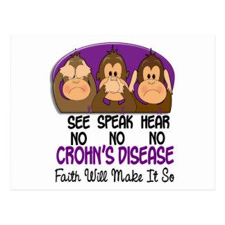 See Speak Hear No Crohns Disease 1 Postcard
