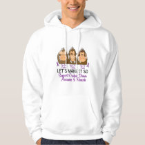 See Speak Hear No Crohns Disease 2 Hoodie