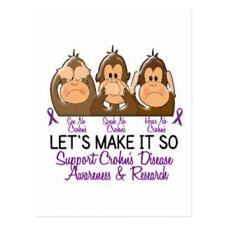 See Speak Hear No Crohns Disease 2 Postcard