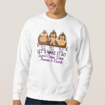See Speak Hear No Crohns Disease 2 Sweatshirt