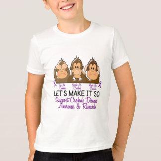 See Speak Hear No Crohns Disease 2 T-Shirt