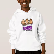 See Speak Hear No Crohns Disease 3 Hoodie
