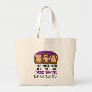 See Speak Hear No Cystic Fibrosis 1 Canvas Bags