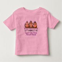 See Speak Hear No Cystic Fibrosis 2 Toddler T-shirt