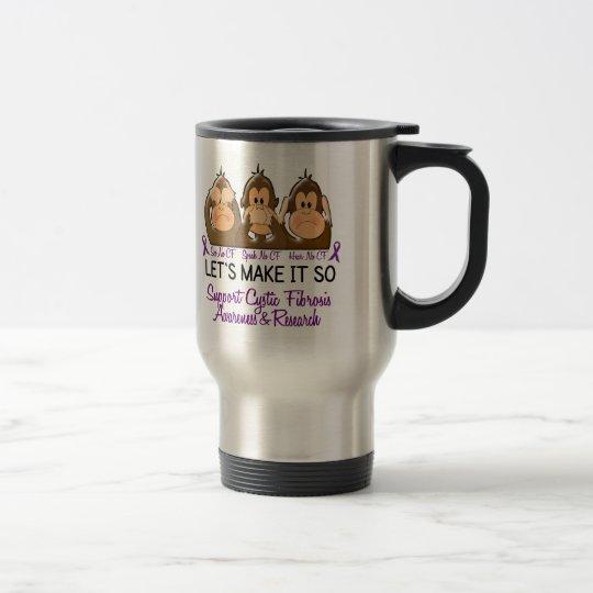 See Speak Hear No Cystic Fibrosis 2 Travel Mug