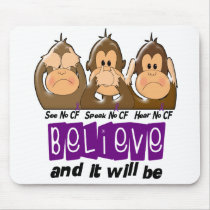 See Speak Hear No Cystic Fibrosis 3 Mouse Pad