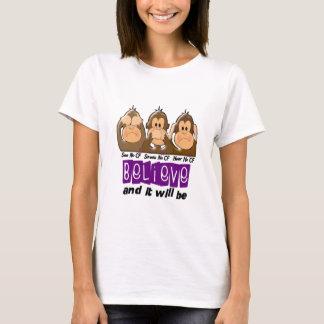 See Speak Hear No Cystic Fibrosis 3 T-Shirt