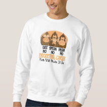 See Speak Hear No Endometrial Cancer 1 Sweatshirt