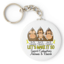 See Speak Hear No Endometriosis 2 Keychain