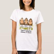 See Speak Hear No Endometriosis 2 T-Shirt
