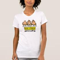 See Speak Hear No Endometriosis 3 T-Shirt