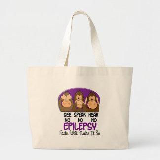 See Speak Hear No Epilepsy 1 Jumbo Tote Bag