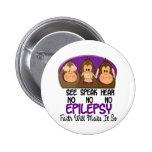 See Speak Hear No Epilepsy 1 Pins