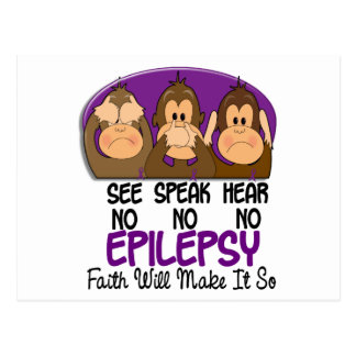 See Speak Hear No Epilepsy 1 Postcard