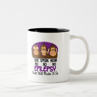 See Speak Hear No Epilepsy 1 Two-Tone Coffee Mug