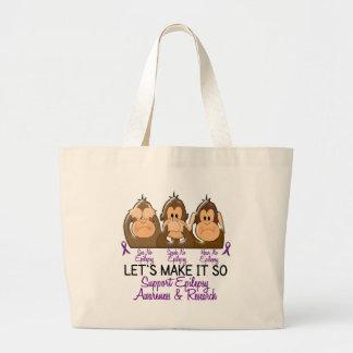 See Speak Hear No Epilepsy 2 Jumbo Tote Bag