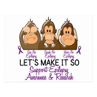 See Speak Hear No Epilepsy 2 Postcard