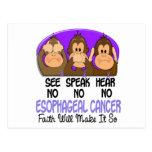 See Speak Hear No Esophageal Cancer 1 Postcards