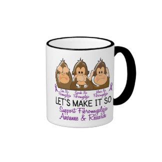 See Speak Hear No Fibromyalgia 2 Coffee Mugs