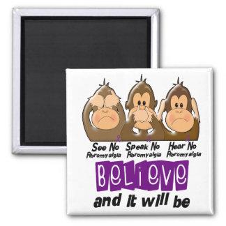 See Speak Hear No Fibromyalgia 3 2 Inch Square Magnet