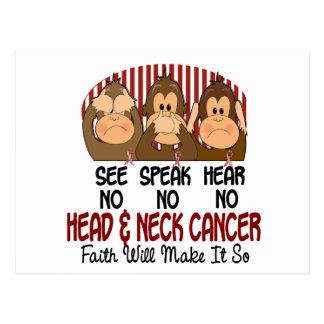 See Speak Hear No Head and Neck Cancer 1 Postcard