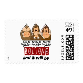 See Speak Hear No Head and Neck Cancer 3 Stamp