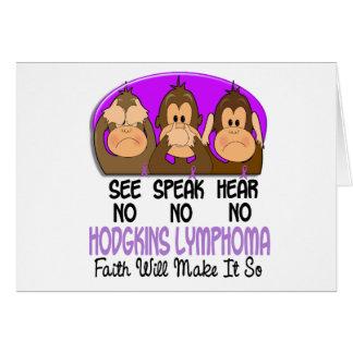 See Speak Hear No Hodgkins Lymphoma 1 Card