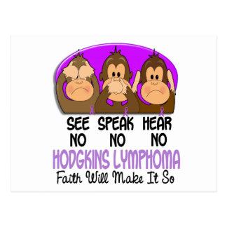 See Speak Hear No Hodgkins Lymphoma 1 Postcard