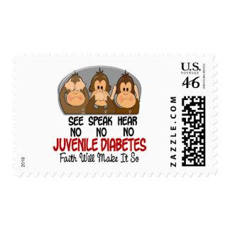 See Speak Hear No Juvenile Diabetes 1 Stamps