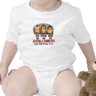 See Speak Hear No Juvenile Diabetes 1 Tee Shirts