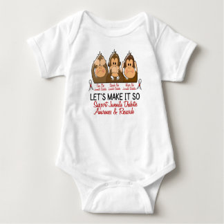 See Speak Hear No Juvenile Diabetes 2 Baby Bodysuit