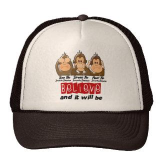 See Speak Hear No Juvenile Diabetes 3 Hat