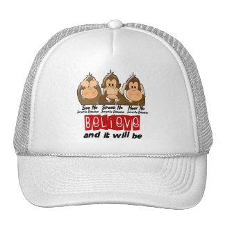See Speak Hear No Juvenile Diabetes 3 Trucker Hat