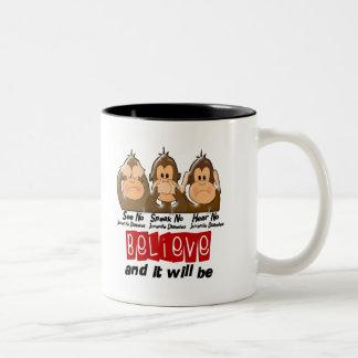 See Speak Hear No Juvenile Diabetes 3 Two-Tone Coffee Mug