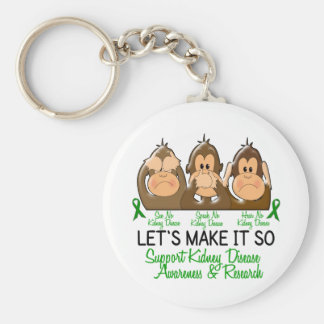 See Speak Hear No Kidney Disease 2 Keychain