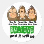 See Speak Hear No Kidney Disease 3 Sticker