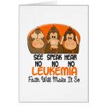 See Speak Hear No Leukemia 1 Greeting Card
