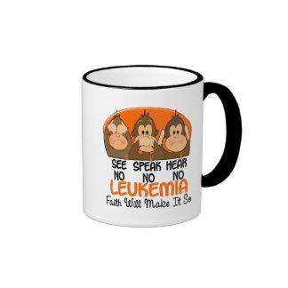 See Speak Hear No Leukemia 1 Ringer Mug