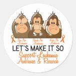 See Speak Hear No Leukemia 2 Stickers