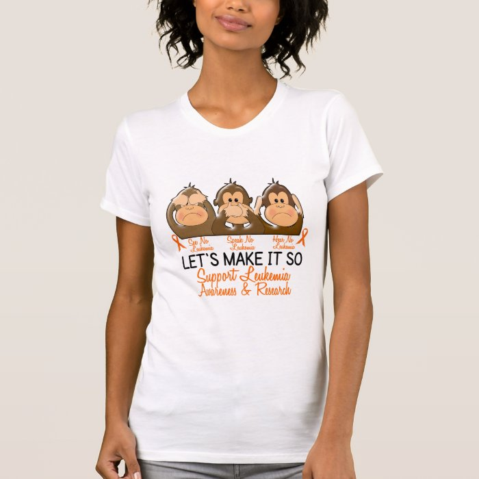 See Speak Hear No Leukemia 2 T-Shirt