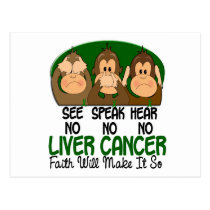 See Speak Hear No Liver Cancer 1 Postcard