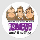 See Speak Hear No Lupus 3 Sticker