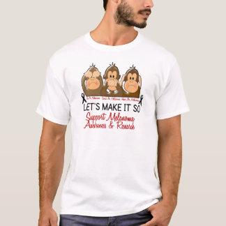 See Speak Hear No Melanoma Skin Cancer 2 T-Shirt